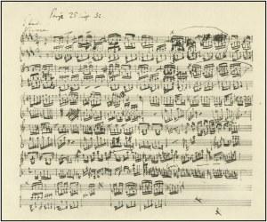 manuscrito Chopin estudio op.10 nº3
