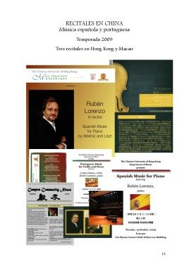 12 Recitales en China Música española y portuguesa