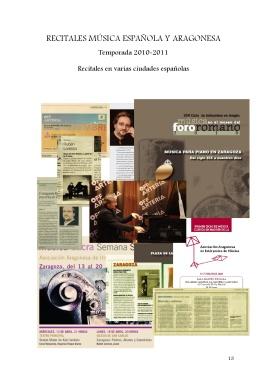 13 Recitales Música aragonesa y española