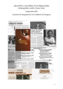 2 Grandes conciertos de Primavera - Zaragoza