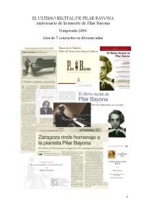 4 El último recital de Pilar Bayona